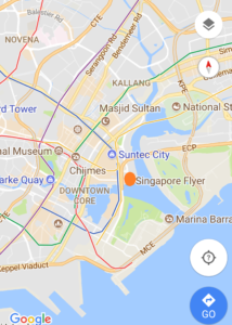 Map of Singapore flyer